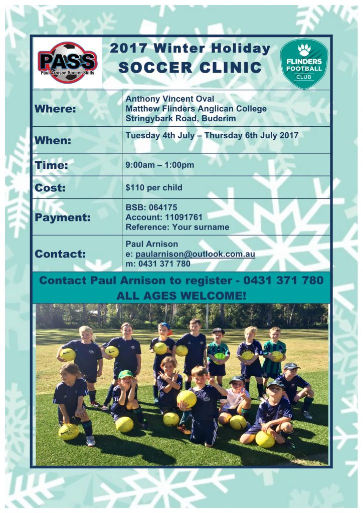 PASS Winter Holiday Soccer Clinic