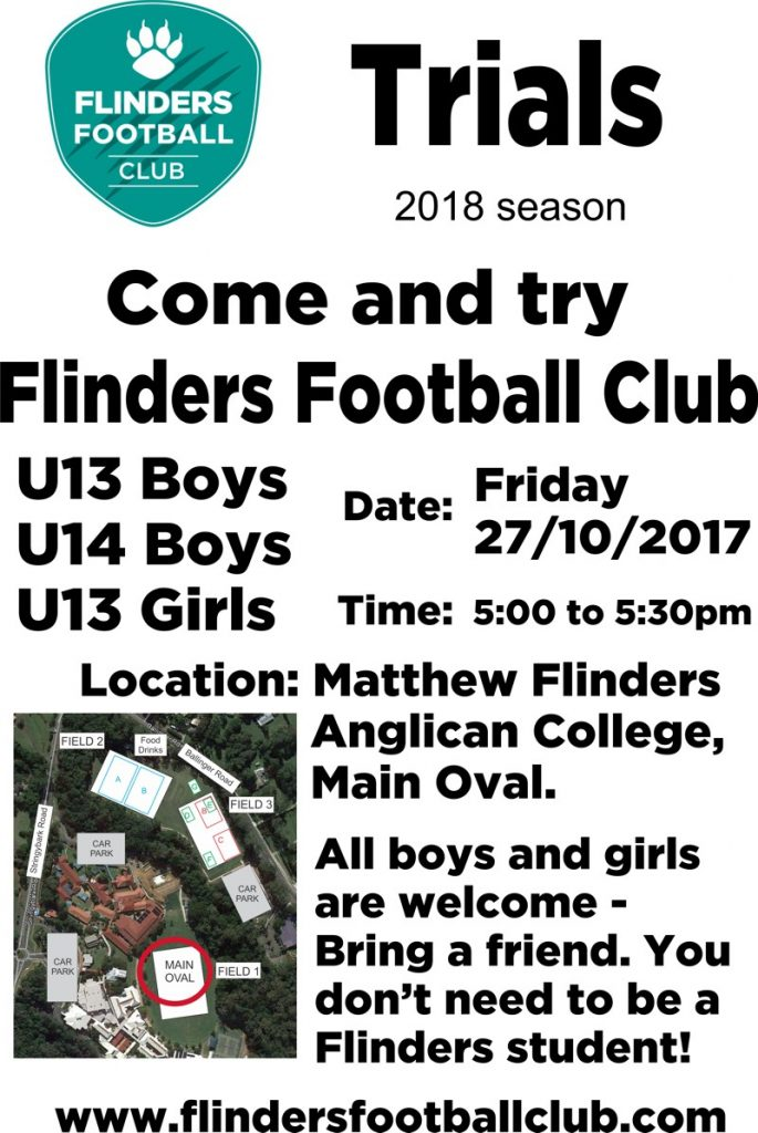 Flinders Football Club Trials